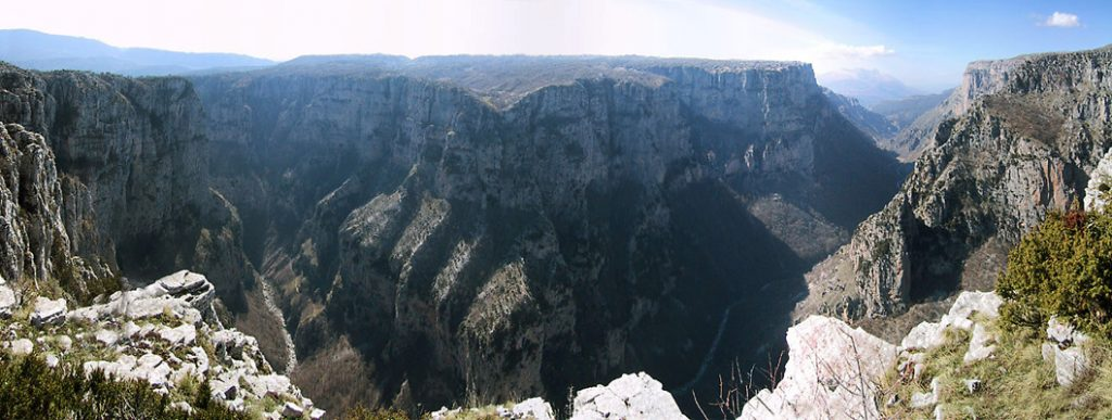 The Guinness Book of World Records mentions the Vikos Gorge as the deepest gorge in the world