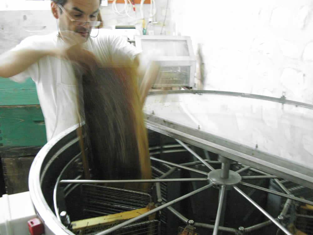 Φυγοκέντριση – μελιτοεξαγωγέας το μηχάνημα Αντλία μελιού, Τσεπέλοβο, Ζαγόρι