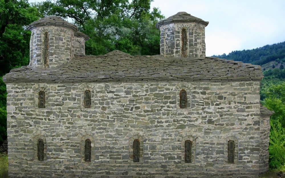 Ι.Ν. Ζέρμας - Πλαγιά - μικρογραφία από πέτρα - Α. Τέφος, Κόνιτσα