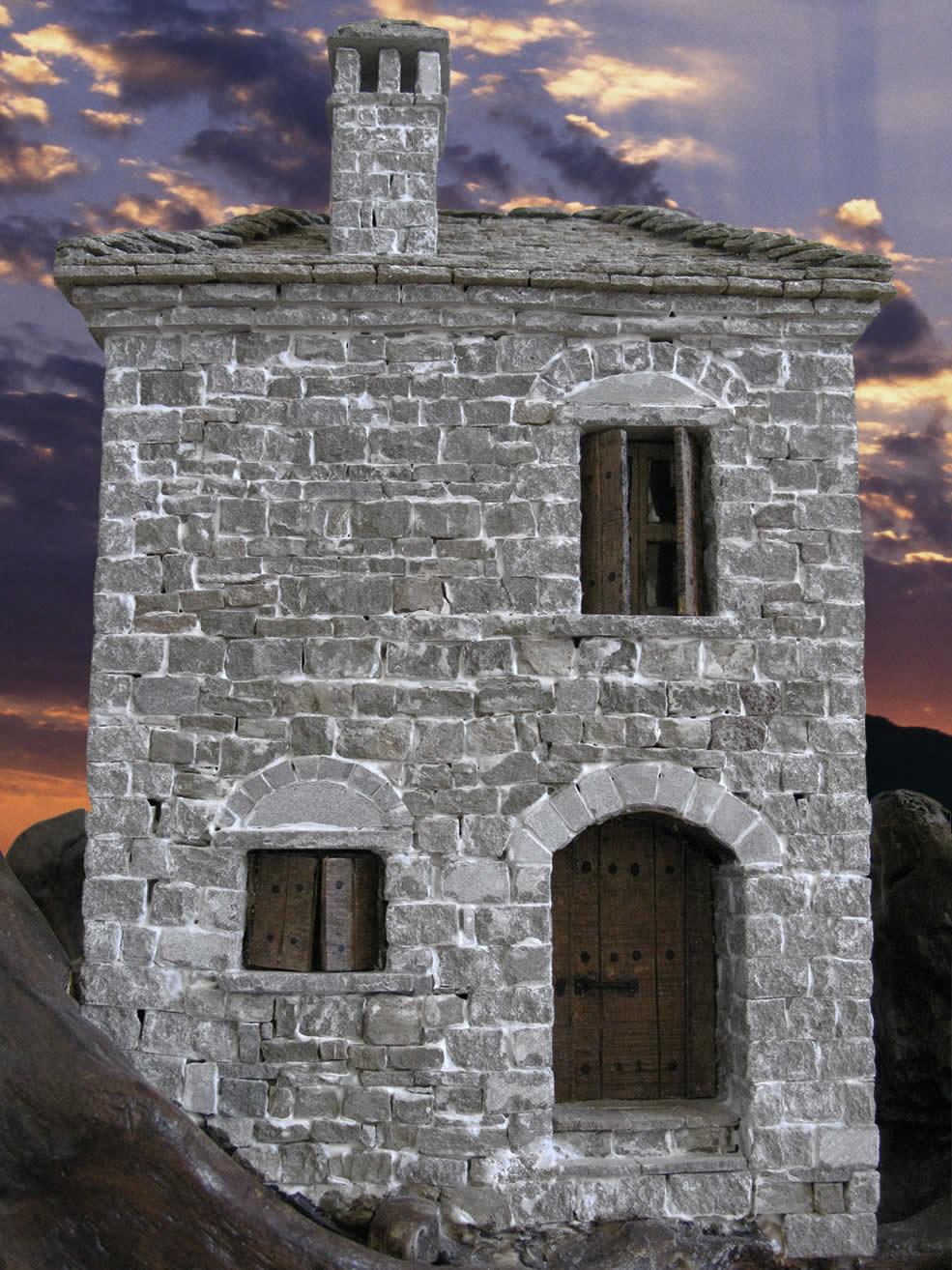 Πέτρινη κατοικία στην Κόνιτσα - μικρογραφία από πέτρα - Α. Τέφος, Κόνιτσα