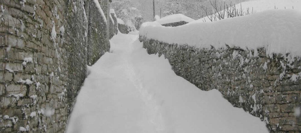 Χιόνια στα Ζαγοροχώρια, Ιαν. 2019